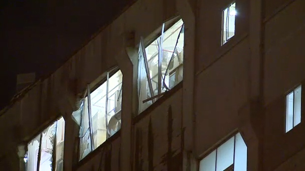 Damaged windows - ADM Milling Co explosion