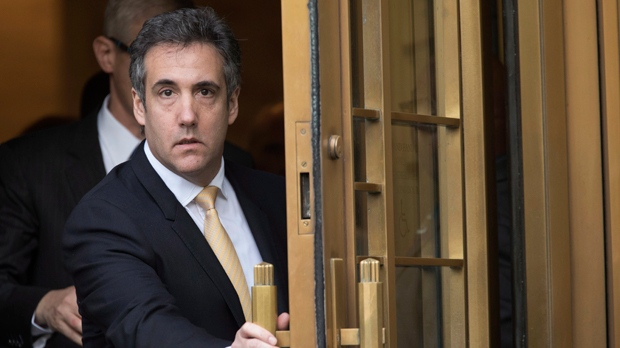 In this Aug. 21, 2018, file photo, Michael Cohen leaves Federal court, in New York. Cohen, President Trump's ex-lawyer, is making an court appearance before a federal judge in New York on Thursday, Nov. 29. (AP Photo/Mary Altaffer, File)