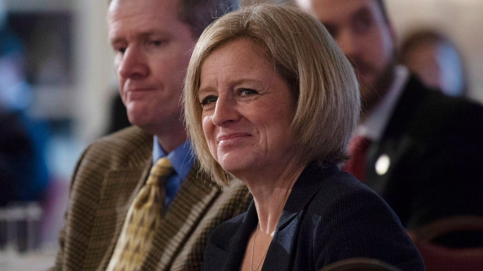 Alberta Premier Rachel Notley smiles as she is introduced to deliver a speech in Ottawa, Wednesday November 28, 2018. (THE CANADIAN PRESS/Adrian Wyld)