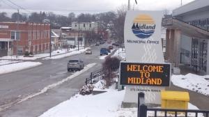 The town of Midland on Thursday, Nov. 29, 2018 (CTV News/Krista Sharpe)