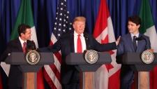U.S. President Donald Trump Mexico's President Enr