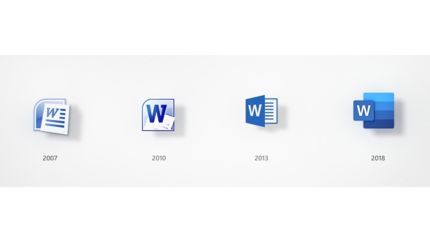 Microsoft Office icons have been redesigned