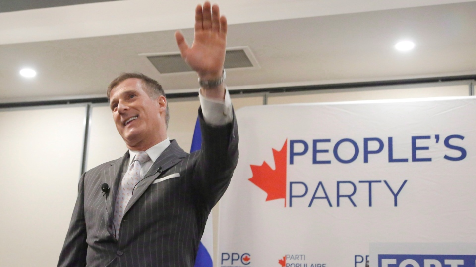 Maxime Bernier speaks at a People's Party of Canada rally in Gatineau, Quebec on Tuesday, November 20, 2018. THE CANADIAN PRESS/ Patrick Doyle
