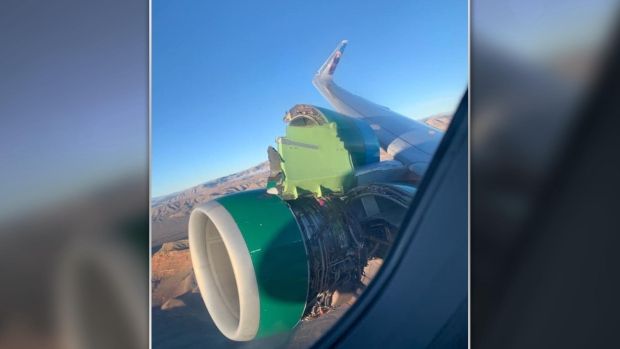 Engine damage forces Frontier Airlines plane to make emergency landing in Vegas
