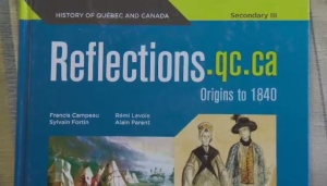 Quebec's textbook for the high school course History of Quebec and Canada