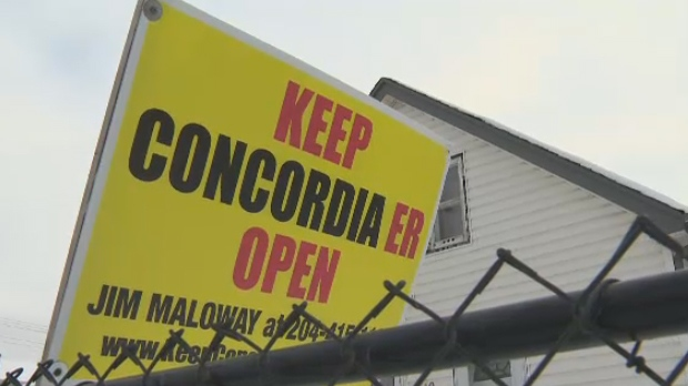 Concordia Hospital ER sign