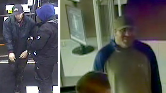 Mounties want to identify and speak to the two men seen in these surveillance pictures to further the investigation into a violent Nov. 27 home invasion. (RCMP)