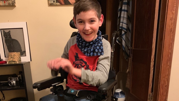 7d6e6763e Saskatoon boy to get new wheelchair after his was stolen