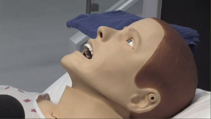 The new simulation bay is meant to train health-care professionals on real life scenarios on mannequins or cadavers.