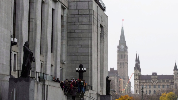 The Supreme Court of Canada in Ottawa on Friday, Nov. 2, 2018.THE CANADIAN PRESS/Sean Kilpatrick