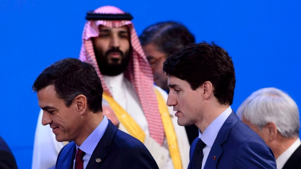 Trudeau avoids confrontation with Saudi crown prince, Putin during G20 summit