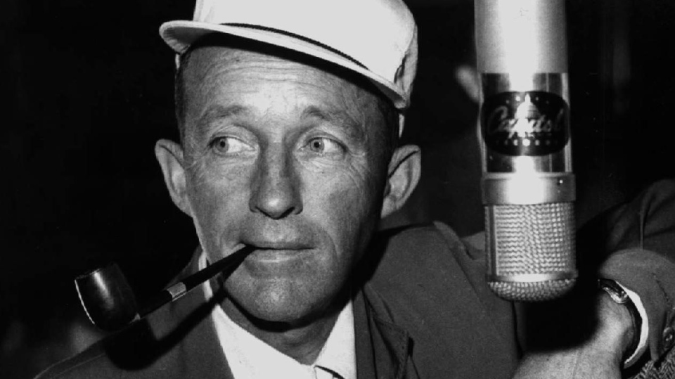 FILE - In this 1958 file photo Bing Crosby is shown during a recording session in Los Angeles. (AP Photo, file)