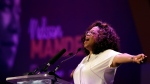 Oprah Winfrey gives her speech after paying tribute to Nelson Mandela and promoting gender equality at an event at University of Johannesburg in Soweto, South Africa, Thursday, Nov. 29, 2018. (AP Photo/Themba Hadebe)