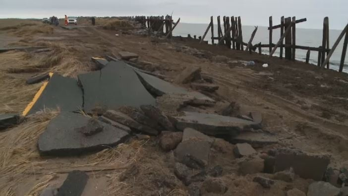 Residents of Big Island, N S , stranded after storm washes