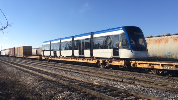 One of the final two LRT vehicles