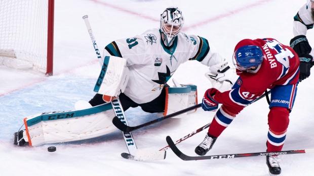 Jones Makes 39 Saves As San Jose Sharks Top Montreal Canadiens 3 1