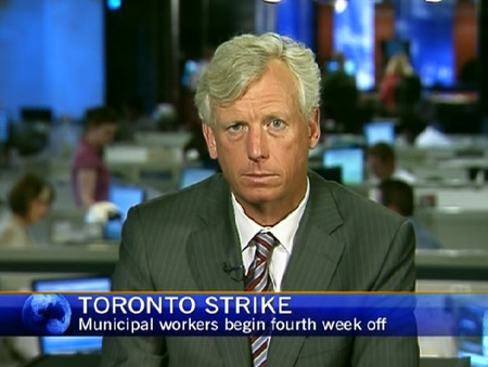 Toronto Mayor David Miller speaks on CTV Nes Channel, Monday, July 13, 2009.