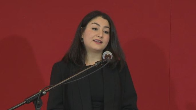 Status of Women Minister Maryam Monsef announces $50 million for programs across Canada that support survivors of gender-based violence in Halifax on Dec. 3, 2018.