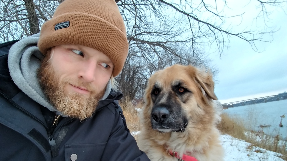 Jesse Boldt and his dog Layla have been using a heater more often lately.