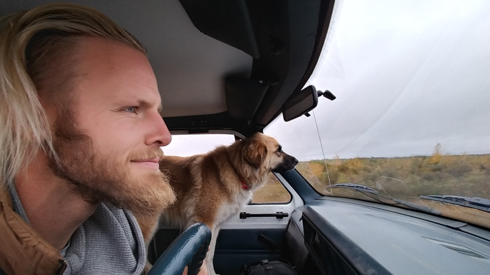 Boldt and Layla have stayed in Saskatoon since moving into the van. (Boldt)