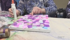 Unique art project for disabled adults