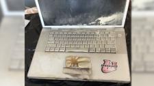 Burned laptop