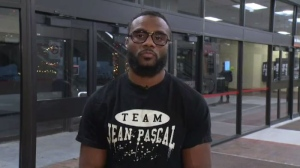 Former WBC and IBO light-heavyweight champ Jean Pascal reacts