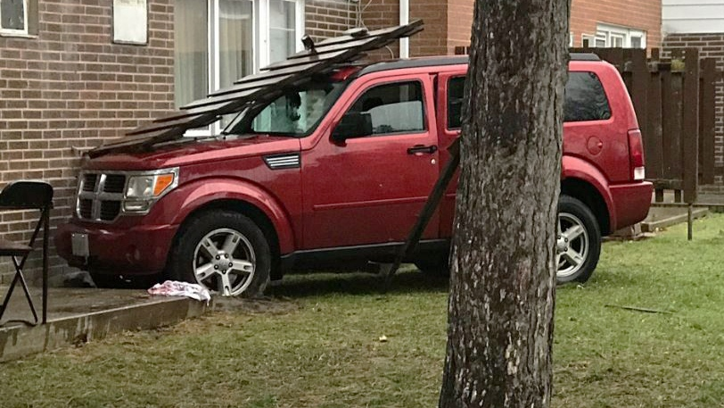 A woman from LaSalle, Ont., has been charged with attempted murder after allegedly attempting to run down her teenage son outside an apartment complex in Windsor, Ont. (Alana Hadadean / CTV Windsor)