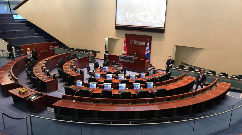 The council chamber at city hall is shown in this file photo. (Nick Dixon/CTV Toronto)