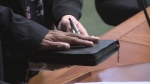 Floyd Pinto sworn in