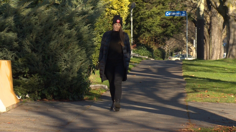 Carol Linnitt says she was walking down Cook Street on the night of Nov. 26 when she felt as though she was being followed. What happened next has turned into a viral Facebook post. Dec. 4, 2018. (CTV Vancouver Island)