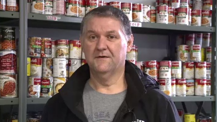 """There's a lot of good people out there,"" said Marco Amati of Loaves and Fishes food bank in Sydney. ""They donate a lot of vegetables, a lot of potatoes, and we're really blessed to have that here, but as the time goes on, I could see that it might diminish."""