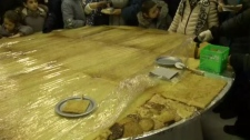 The world's largest latke, made in Montreal