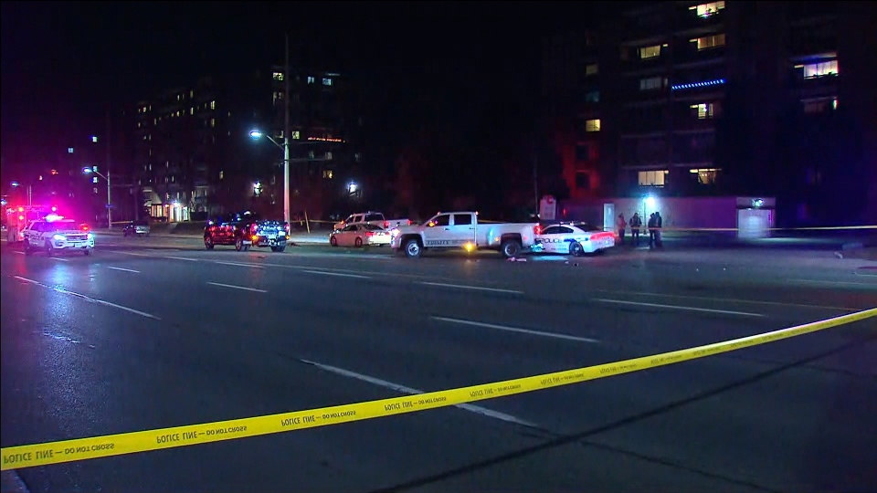 Police investigate after a pedestrian was struck and killed near Erindale Station Road and Dundas Street West in Mississauga.