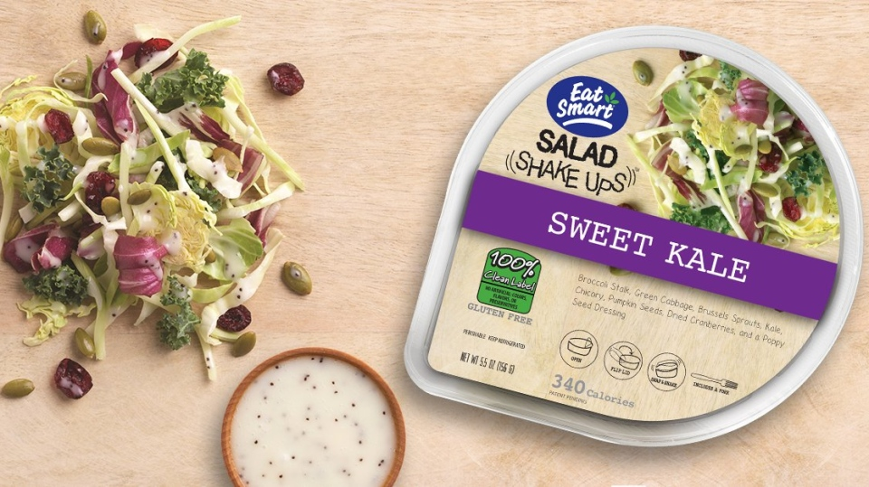 The Canadian Food Inspection Agency says one of Eat Smart's packaged salads have been recalled due to possible Listeria contamination. Photo courtesy Eat Smart via Twitter.