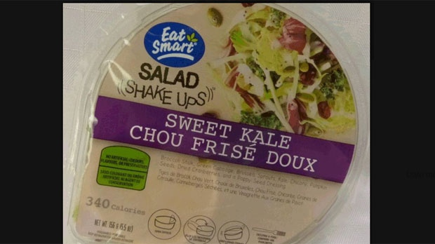 The Canadian Food Inspection Agency has released this photo of recalled product Salad Shake Ups -- Sweet Kale. (PHOTO: CFIA)