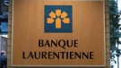 The Banque Laurentienne or Laurentian Bank logo is seen in Montreal on June 21, 2016. THE CANADIAN PRESS/Paul Chiasson