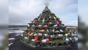 Island Christmas Tree.A New East Coast Tradition Towering Christmas Trees Made Of