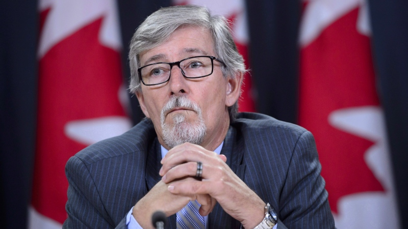 Privacy Commissioner Daniel Therrien holds a news conference to discuss his annual report in Ottawa on Thursday, Sept. 27, 2018. (THE CANADIAN PRESS / Sean Kilpatrick)