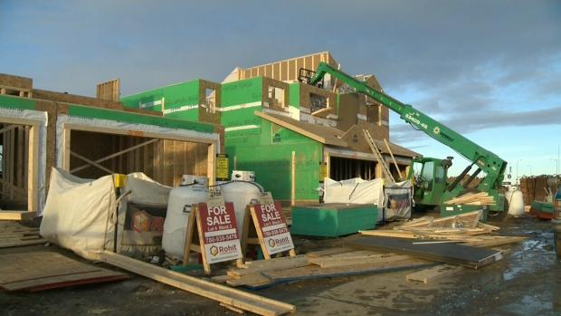 House construction in Edmonton