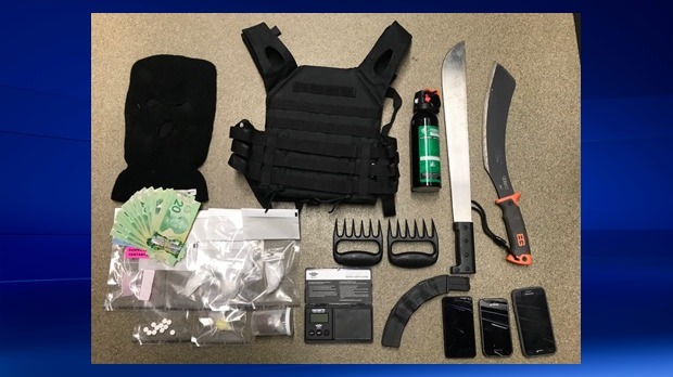 Innisfail RCMP - weapons and drugs seized