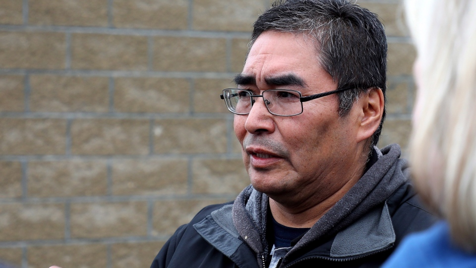 Rudy Turtle, chief of the Grassy Narrows First Nation in northwestern Ontario, is seen here on the reserve on Friday, May 18, 2018. THE CANADIAN PRESS/Colin Perkel
