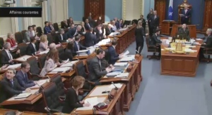 Francois Legault missed his chair in the National Assembly.