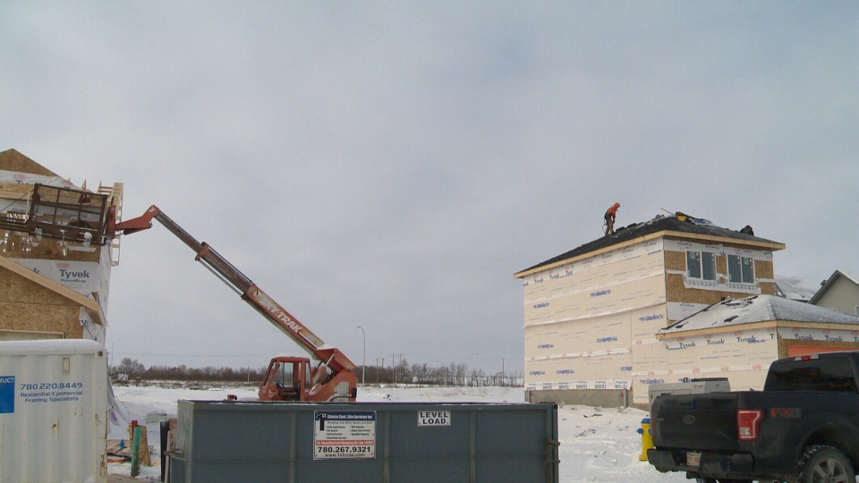 New Home Construction in Edmonton, December 2018