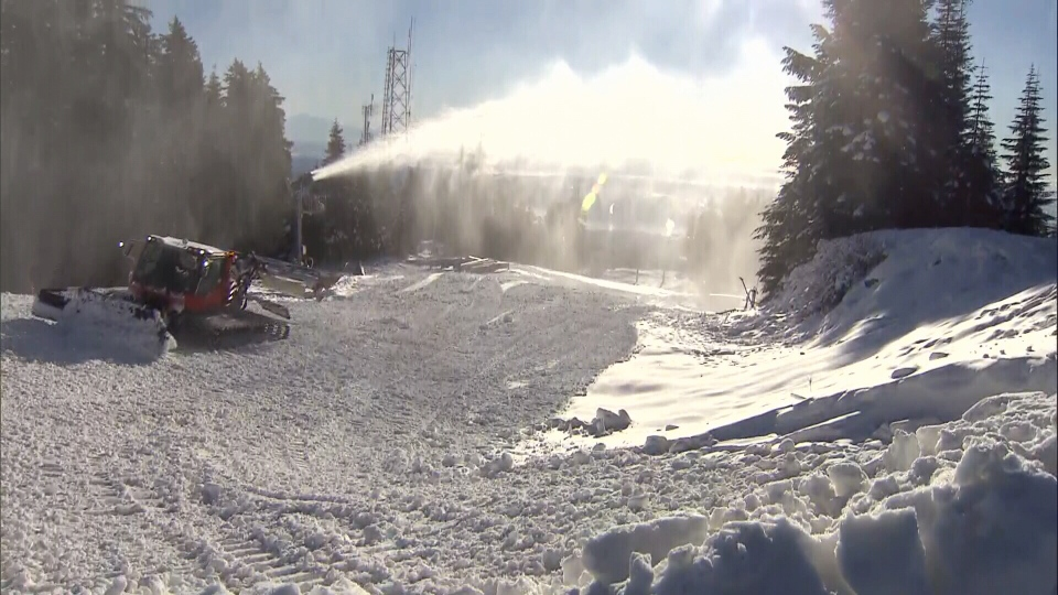 Snowmaking crews have been taking advantage of the colder weather to get Grouse Mountain ready for skiers. Dec. 5, 2018.