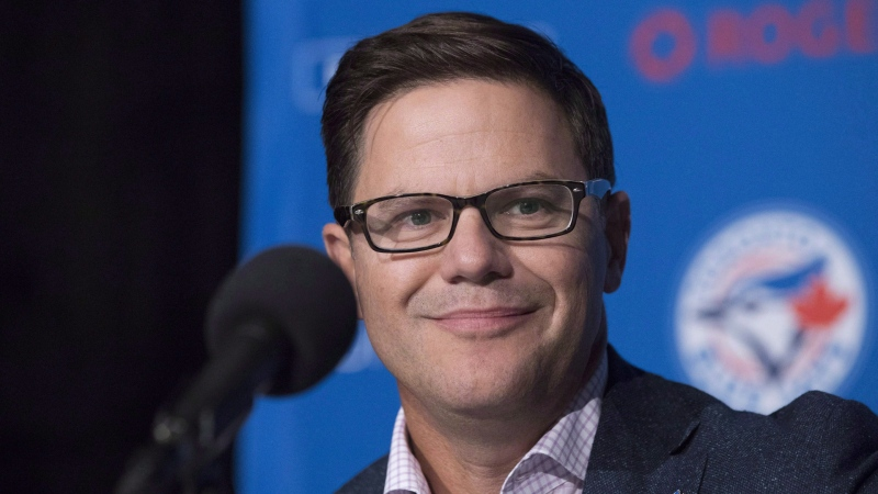 Toronto Blue Jays General Manager Ross Atkins attends a press conference in Toronto on Wednesday, September 26, 2018. THE CANADIAN PRESS/Chris Young