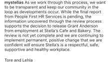 Stella's statement Dec 6.