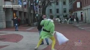 Trending: Pillow fighting elf