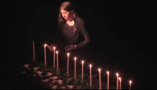Candles were lit for 14 Montreal massacre victims