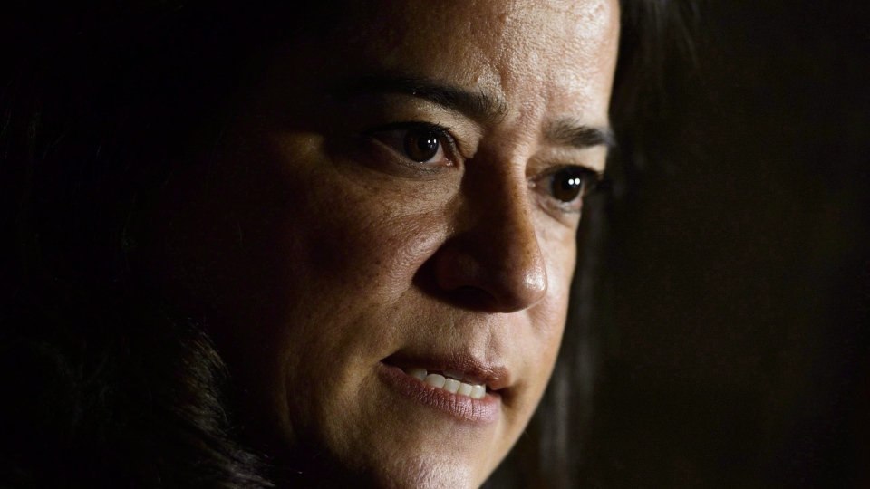 Jody Wilson-Raybould, Minister of Justice and Attorney General of Canada, makes an announcement on Parliament Hill in Ottawa on Thursday, Oct. 18, 2018.  (Sean Kilpatrick/ The Canadian Press)